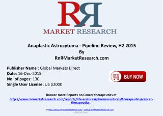 Anaplastic Astrocytoma Pipeline Review H2 2015
