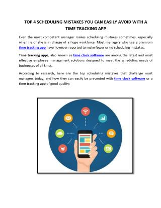 Top 4 Scheduling Mistakes You Can Easily Avoid With A Time Tracking App
