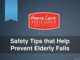 Safety Tips that Help Prevent Elderly Falls