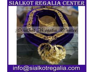 Regalia Masonic Grand Lodge chain collar purple velvet