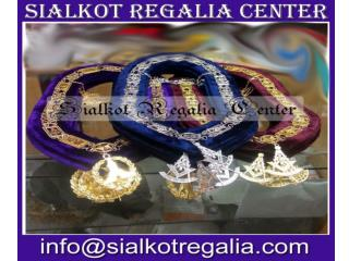 Masonic Grand Lodge chain collar purple velvet