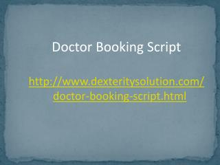 PHP Doctor Appointment Script