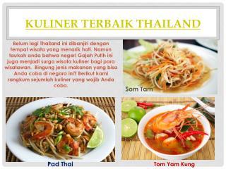Kuliner Terbaik Thailand