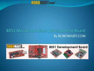8051 Microcontroller Development Board - Robomart