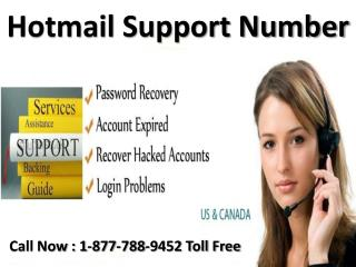 Hotmail support 1-877-788-9452 tollfree number for Hotmail support