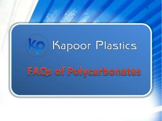 FAQs of Polycarbonates