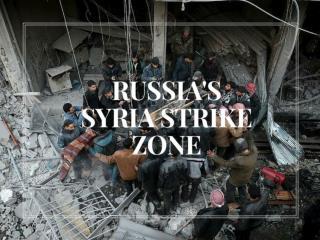 Russia's Syria strike zone
