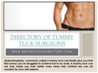 Directory Of Tummy Tuck Surgeons