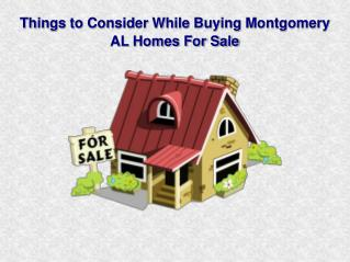 Finest Montgomery AL Homes for Sale at a Fair Price