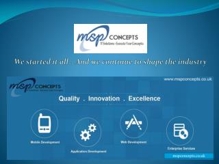 MSP Concepts - Leading Software Development Company in UK