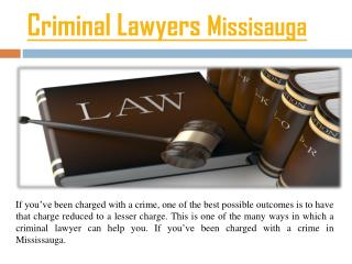 Criminal Lawyers Mississauga