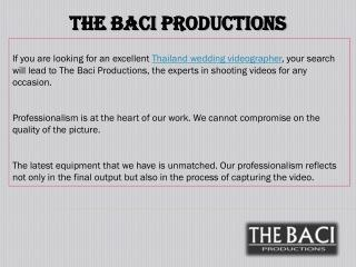The Baci Productions