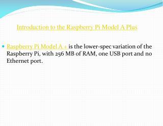 Raspberry Pi Model A  India
