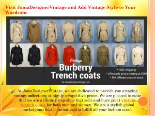 Vintage trench coat for womens