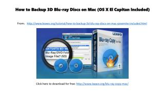 How to backup 3 d blu ray discs on mac (os x el capitan included)