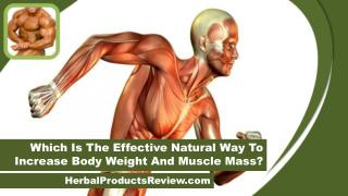 Which Is The Effective Natural Way To Increase Body Weight And Muscle Mass?