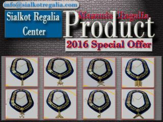 Blue Lodge Officer chain collar Gold