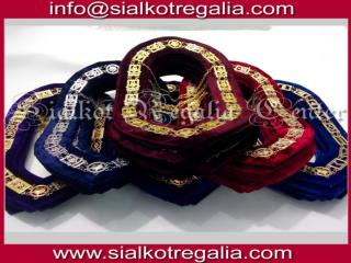 Silver Masonic Blue Lodge chain collar