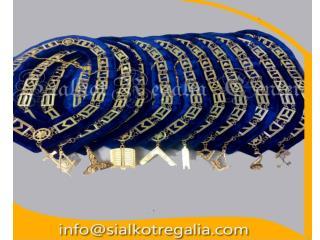 Masonic Blue Lodge officer chain collar plus jewels
