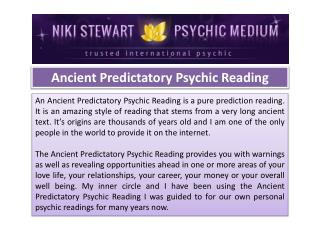 Ancient Predictatory Psychic Reading