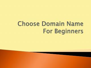 Choose Domain Name For Beginners
