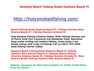 Daytona Beach Fishing Charters Daytona Beach FL, Fishing Charters Orlando FL, Fishing Charters - Orlando FL