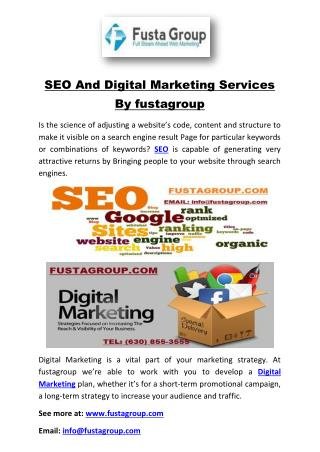SEO And Digital Marketing Services By fustagroup