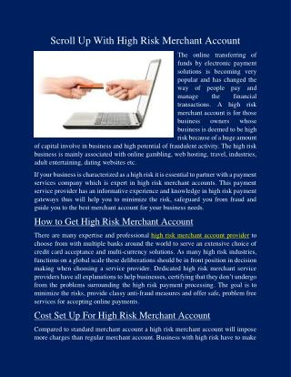 High risk merchant account solutions with radiant pay
