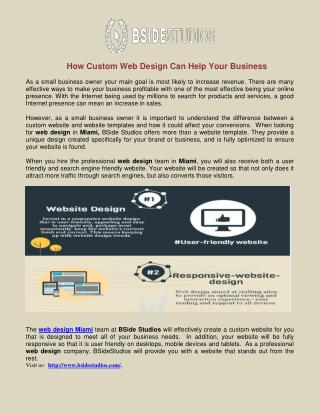 How Custom Web Design Can Help Your Business