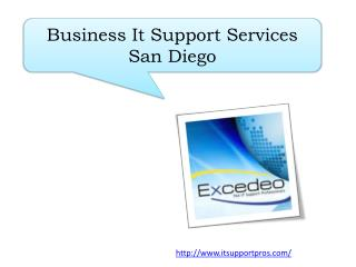Business It Support Services San Diego