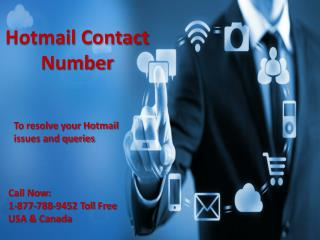 Hotmail contact number 1-877-788-9452 tollfree USA & Canada
