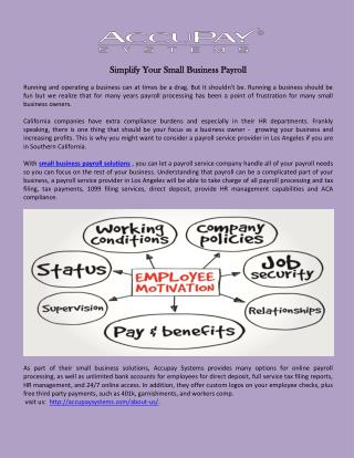 Simplify Your Small Business Payroll