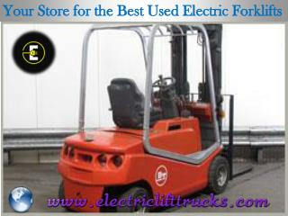 Your Store for the Best Used Electric Forklifts