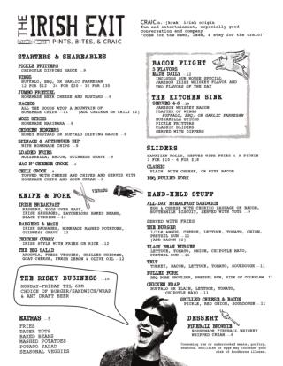 New York City Food Menu