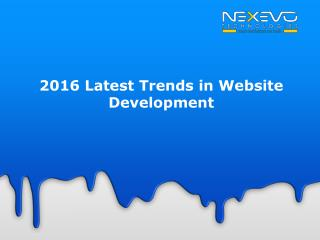 2016 Latest Trends in Website Development