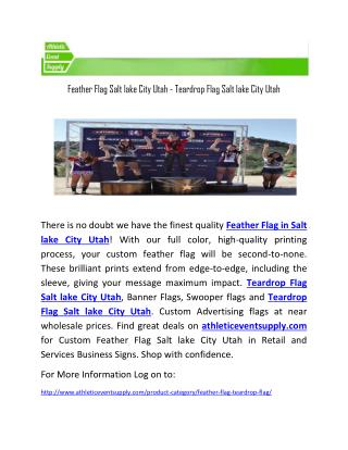 Feather Flag Salt lake City Utah - Teardrop Flag Salt lake City Utah