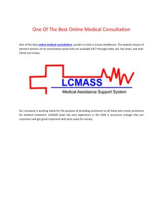 One Of The Best Online Medical Consultation