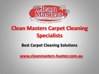 Clean Masters Carpet Cleaning Specialists
