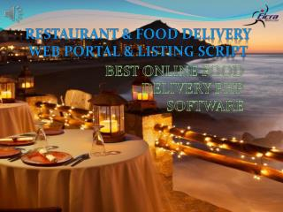 Mind Blowing Features PHP Restaurant Script