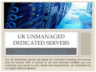 uk unmanaged dedicated servers