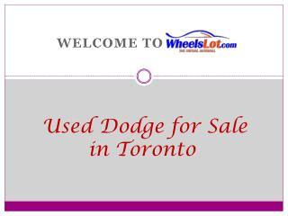 Used Dodge Grand Caravan for sale in Toronto