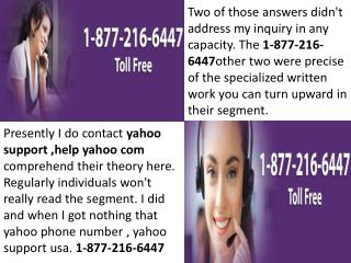 yahoo support canada 1-877-216-6447