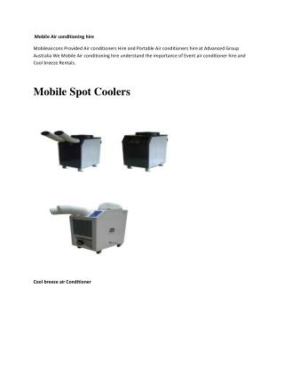 Mobile Air conditioning hire