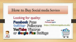 How to Buy Social media Services Online