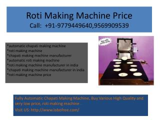 Roti Making Machine Manufacturer in india, Roti Making Machine Price
