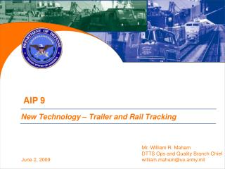 New Technology   Trailer and Rail Tracking