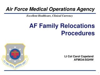 AF Family Relocations Procedures
