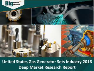 United States Gas Generator Sets Industry, Size, Share, Trends and Forecast 2016 - Big Market Research