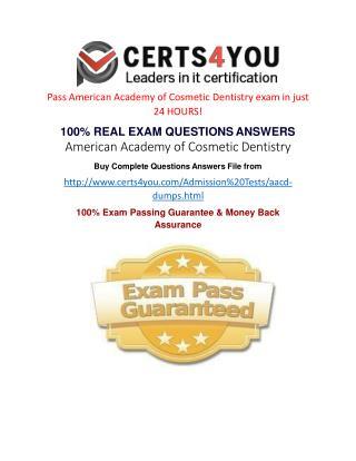 AACD Exam