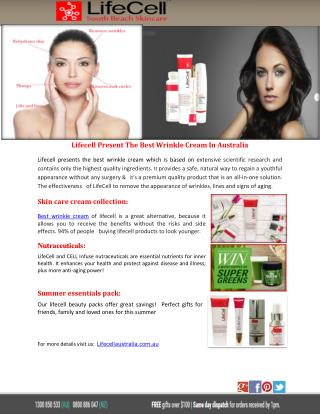 Lifecell Present The Best Wrinkle Cream In Australia